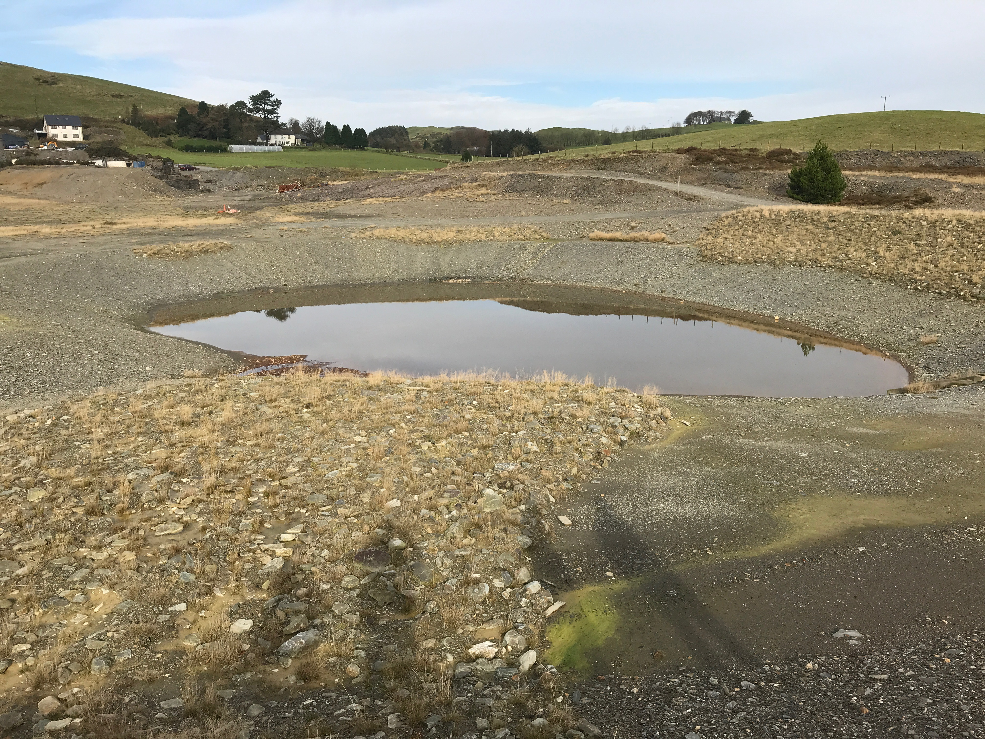 Balancing pond prior to treatment
