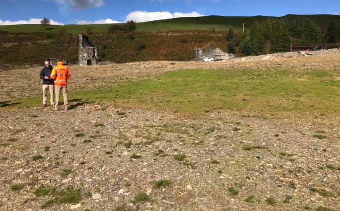 Frongoch Trials TerrAffix 2018 grassed up 22 days after seeding