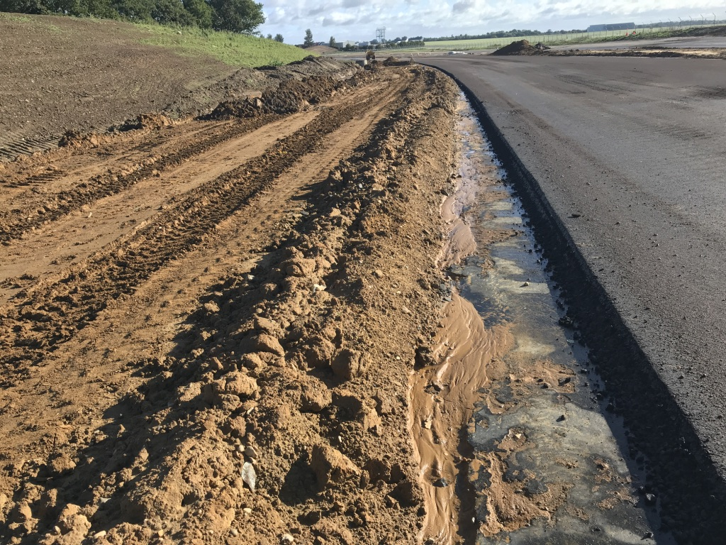 Norwich Northern Distributor Road (NDR) Sub-soils prior to swale establishment