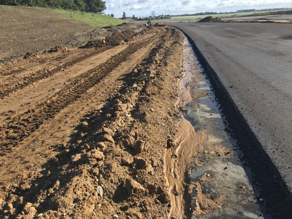 Sub-soils prior to swale establishment