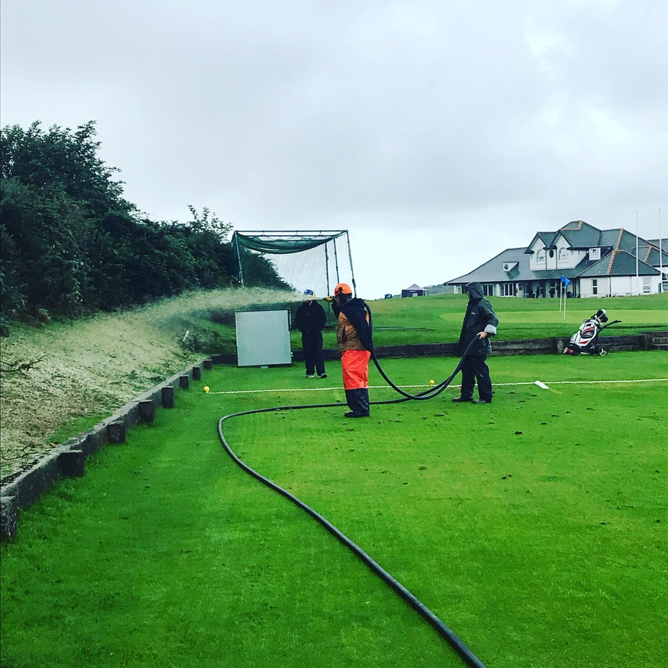 Hydraseeding at Southerndown golf course